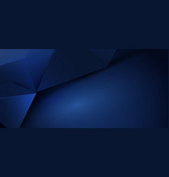 Abstract luxury blue polygonal background vector