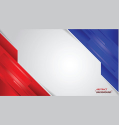 Abstract red white and blue modern design vector
