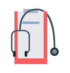 accessories for doctor in flat design vector image