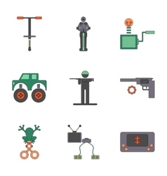 assembly flat icons Kids toys vector image