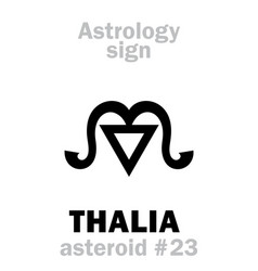 astrology asteroid thalia vector image