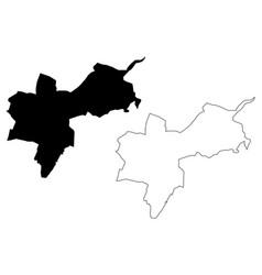 Basel-stadt map vector