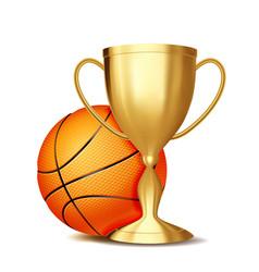 basketball award basketball ball golden vector image