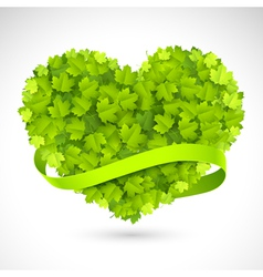 Big green heart vector