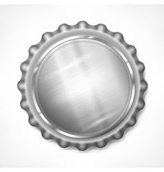 Bottle cap on white vector