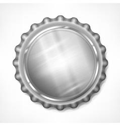 Bottle cap on white vector image