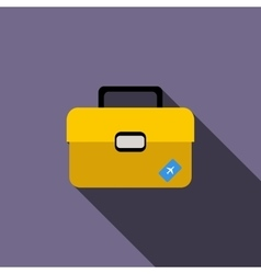 Briefcase for travel icon flat style vector image