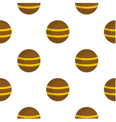 Brown with yellow stripes pattern flat vector