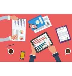 Business analytics statistics and planning vector image