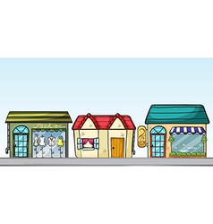 Business establishments vector