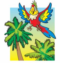 cartoon parrot vector image vector image
