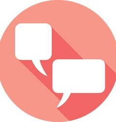 Chat Speech Bubble Icon vector image