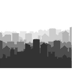 city silhouette megapolis silhouette skyscrapers vector image