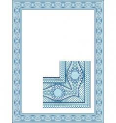 classic guilloche vector image