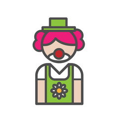 Clown avatar icon on white background vector