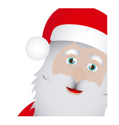 color background of santa claus face vector image