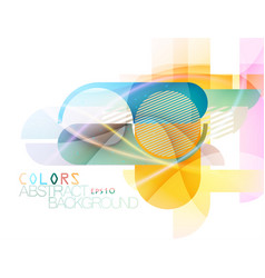 Colorful round and corner scene vector