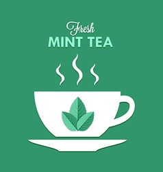 Cup of mint tea vector image