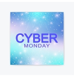 Cyber Monday Sale background Promotional banner vector image