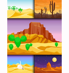 Desert mountains sandstone wilderness landscape vector