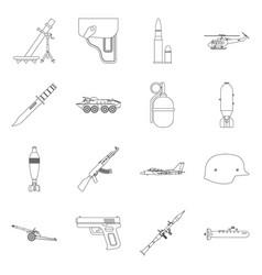Design weapon and gun logo collection vector