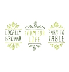 Farm product labels vector image