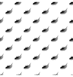 Fluffy angel wing pattern simple style vector image