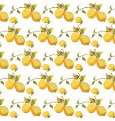 Fresh lemons pattern vector