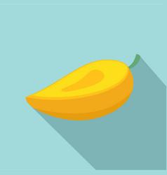 fresh mango icon flat style vector image