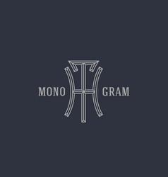 Geometric monogram th vector