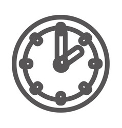 Grayscale contour with wall clock vector