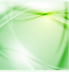 Green folder swoosh line abstract background vector