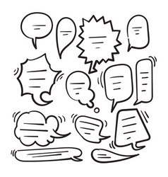 hand draw doodle bubble speech icon vector image