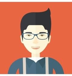 Happy asian guy vector