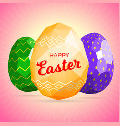 happy easter greeting card template vector image