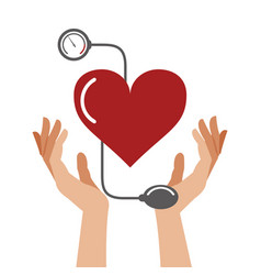 heart pressure healthcare symbol vector image