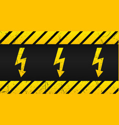 high voltage warning plate old danger sign with vector image