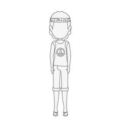 hippie style design vector image