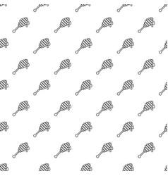 honey ladle pattern seamless vector image