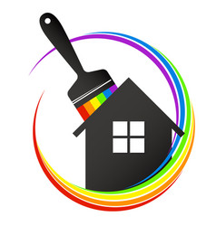 house painting brush vector image