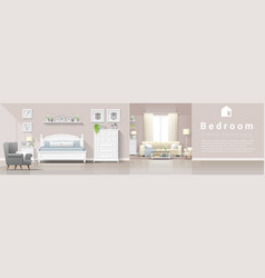 interior background bedroom and living room vector image