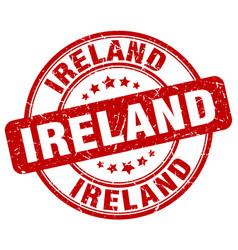 Ireland red grunge round vintage rubber stamp vector