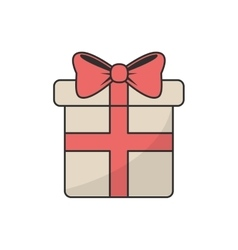 Isolated present with bowtie design vector image