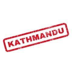 Kathmandu rubber stamp vector