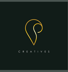 letter p icon logo design template vector image