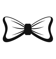 light bow tie icon simple style vector image