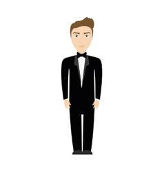 man suit male person hair avatar icon vector image