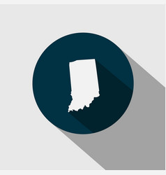 map us state indiana vector image