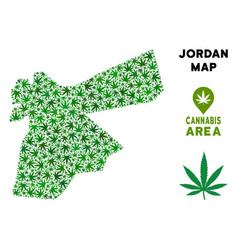 Marijuana composition jordan map vector