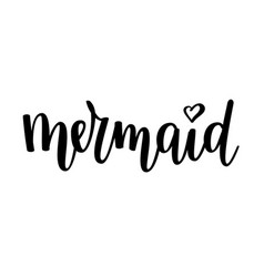 Mermaid lettering vector